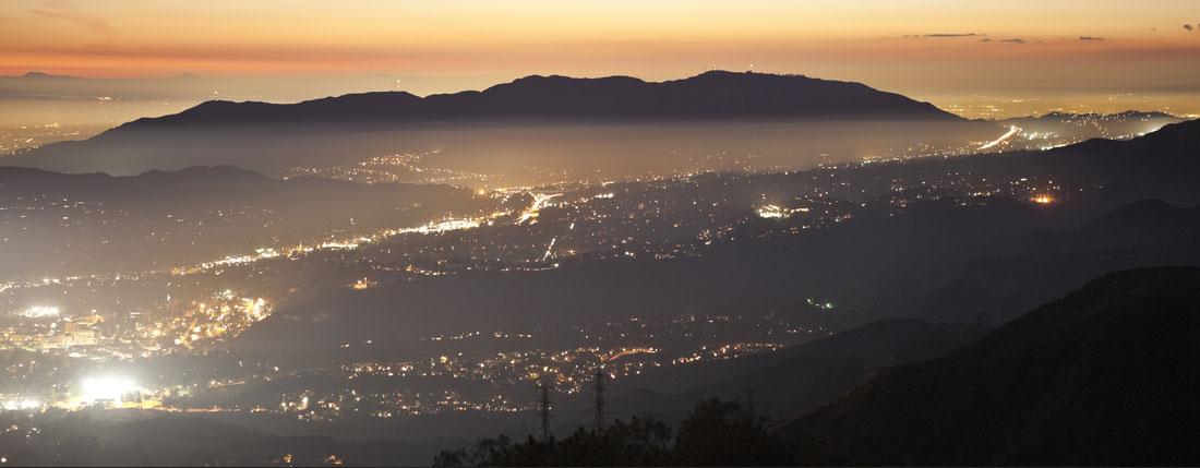 city mountain view